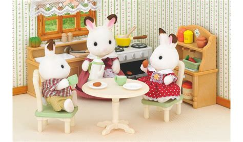 sylvanian country kitchen sylvanian families country kitchen set george 2644