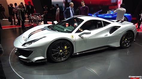 2 Silver 2019 Ferrari 488 Pista At 2018 Geneva Motor Show