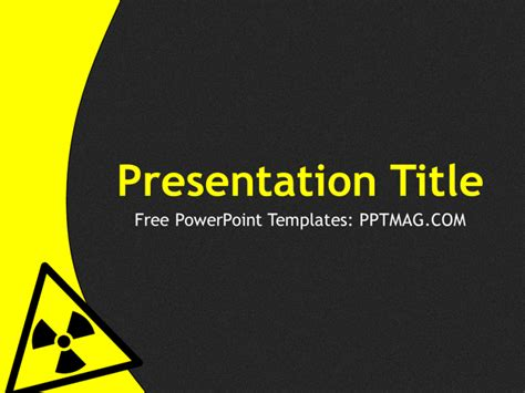 top free powerpoint presentation templates used by students free radioactive powerpoint template pptmag