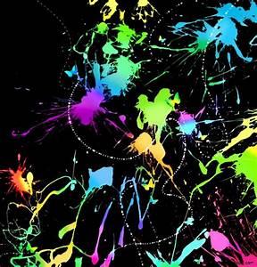 Neon Paint Splatter Background - nornas.info