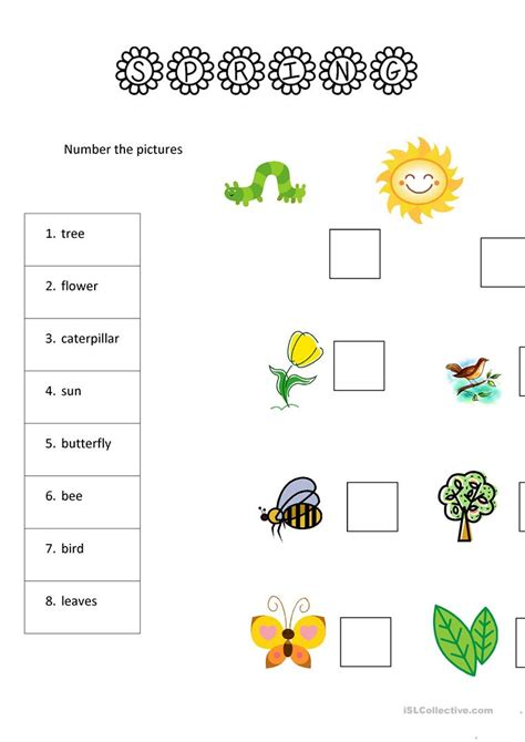 8 spring worksheets for yls worksheet free esl printable worksheets made by teachers