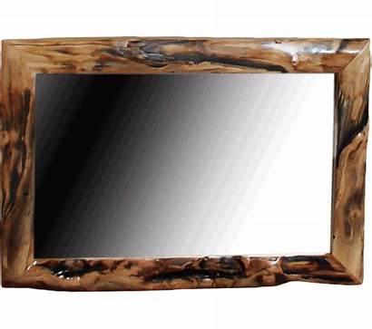 Log Mirror Aspen Framed Furniture Gnarly Mirrors