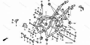 Honda Motorcycle 1999 Oem Parts Diagram For Frame