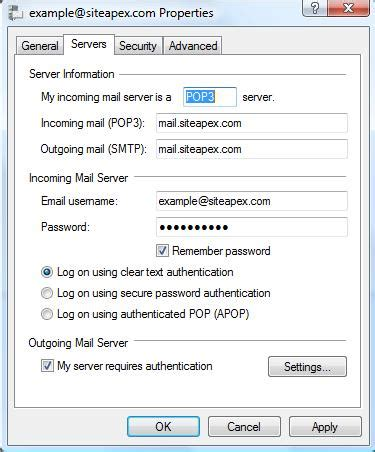 editing your account settings in windows live mail email support articles email siteapex