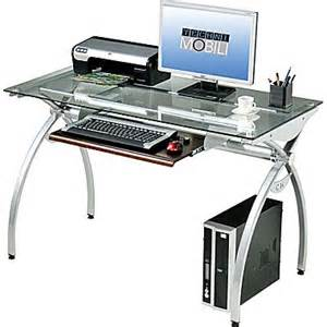 techni mobili glass top computer desk staples 174