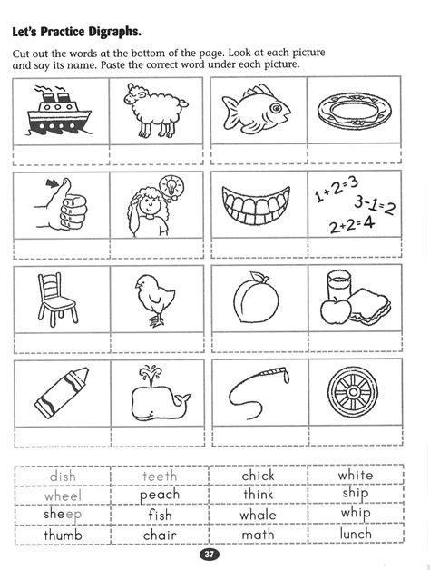let s practice digraphs worksheet rockin reader