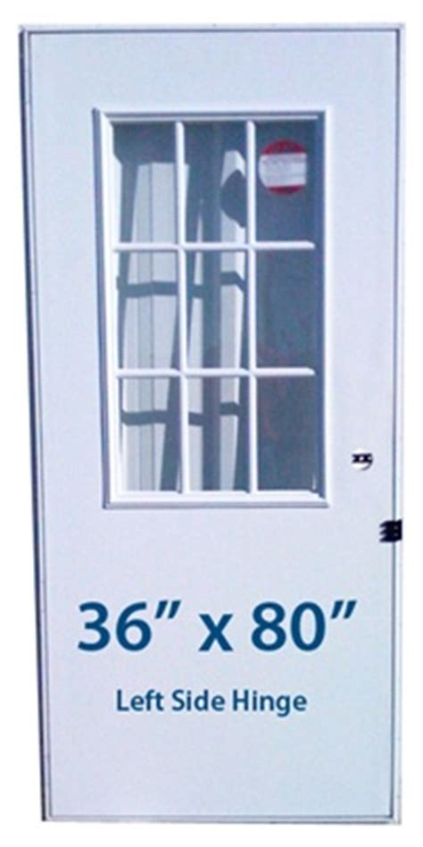 mobile home cottage door  lh left hand hinge doors  window