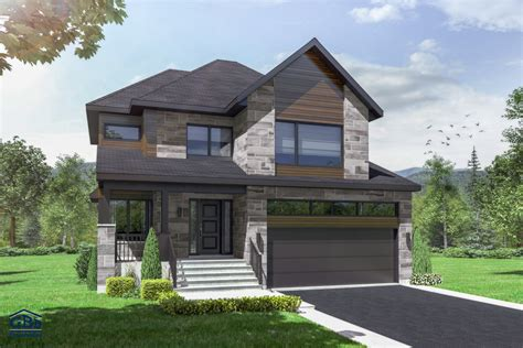 salon cuisine aire ouverte repère maison neuve à deux étages de type cottage gbd construction