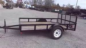 6x10 Utility Trailer With Single Axle And Reinforced Dove