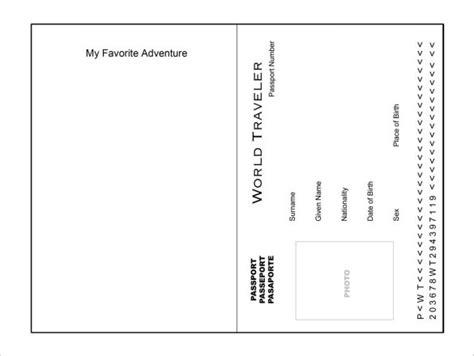editable passport template 6 passport templates website