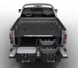 truck bed storage box with decked truck storage system and two waterproof bed length
