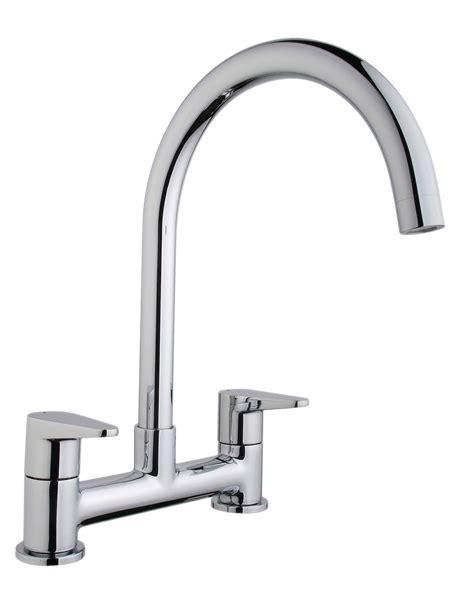 kitchen sink taps b and q cooke lewis tone chrome finish kitchen deck mixer tap 9577