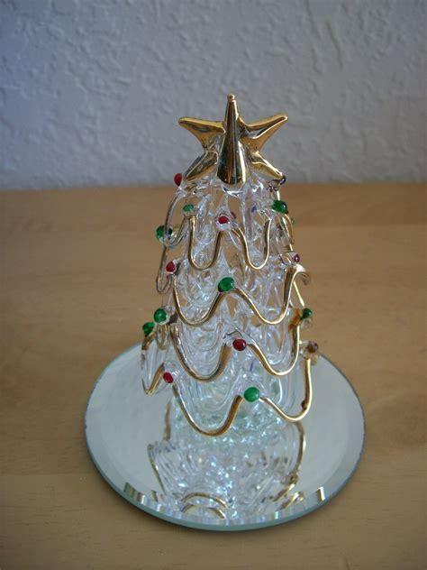 spun glass christmas tree figurine trees