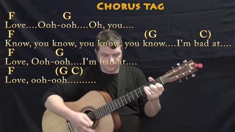 Bad At Love (halsey) Guitar Lesson Chord Chart With Chords