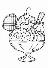 Ice Cream Drawing Coloring Yummy Adult Getdrawings sketch template