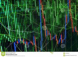 Candlestick Stock Chart Stock Market Graph And Bar Chart Price Display Abstract