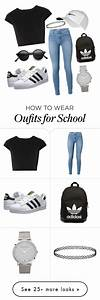 U0026quot;Outfit for school!u0026quot; by matthew-chalut on Polyvore featuring moda Alice + Olivia adidas ...