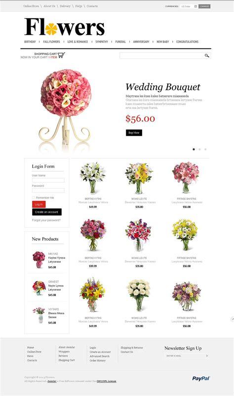 flowers store virtuemart template