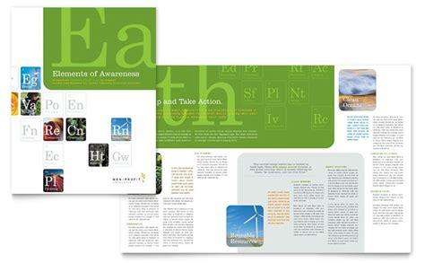 environmental agricultural  profit brochure template