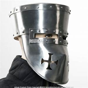 Functional 16G Steel Crusader Knights Templar Helmet Great ...