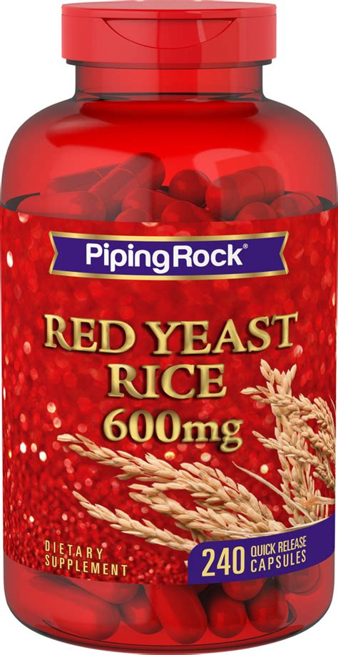 Red Yeast Rice 600 mg 240 Capsules | Reviews | Piping Rock ...