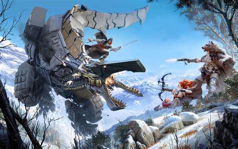 siege xbox one wallpaper thunderjaw battle horizon zero 4k