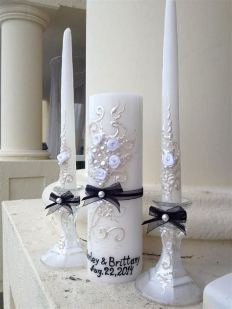 beautiful wedding unity candle set great match