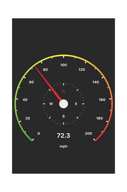 Speedometer Gauge Flutter Radial Using Completed Application
