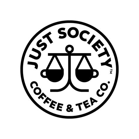 Bio coffee is a revolutionary product that provides vitamins, minerals, nutrients, pre and probiotics and 6 grams of fiber in each cup. Just Society Coffee & Tea Logo - Graphis