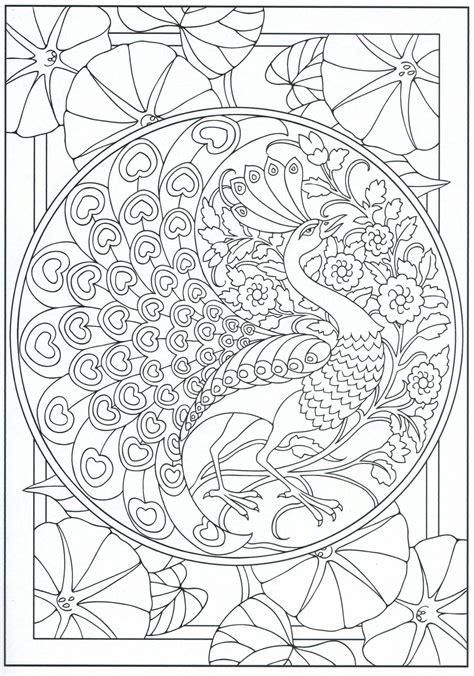 84 Peacock Coloring Page Adults Peacock Coloring