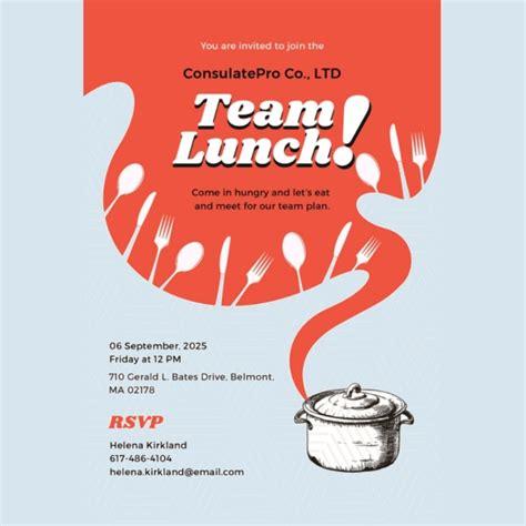 printable lunch invitation designs templates psd