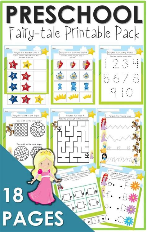 preschool fairy tale printable pack  relaxed homeschool