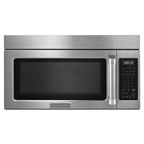 combo microwave and oven kitchenaid khmc1857bsp 1 8 cu ft microwave