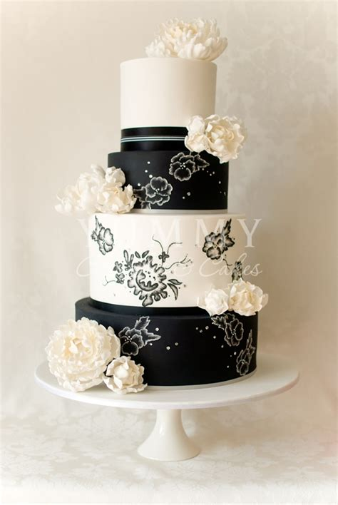 wedding cakes black and white - Black And White Wedding Cake