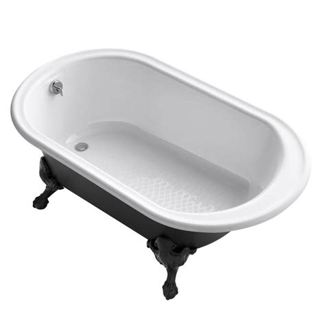 45 Ft Bathtub by Kohler Iron Works 5 5 Ft Cast Iron Claw Foot Oval Tub In