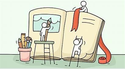 Story Short Write Clipart Stories Cartoon Writing