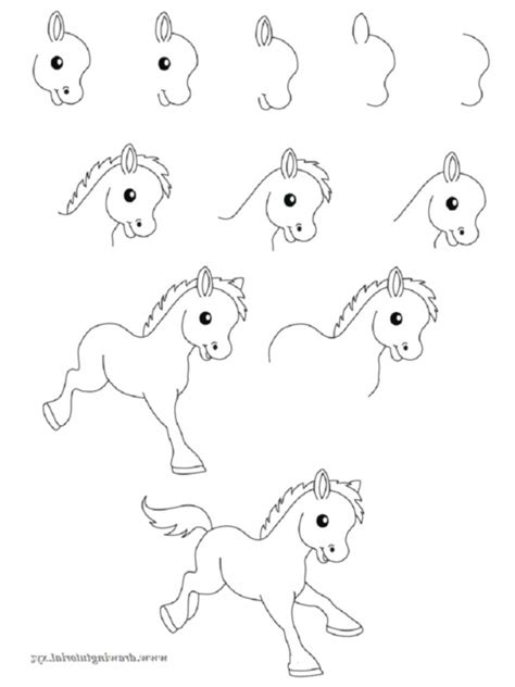 draw easy animals step  step image guide