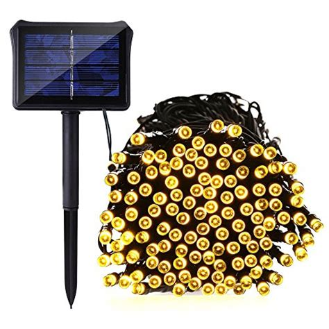 icicle solar string lights dual battery powered 72 ft 8