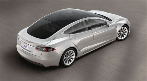 2016 Tesla Model S With Glass Roof Option, Size