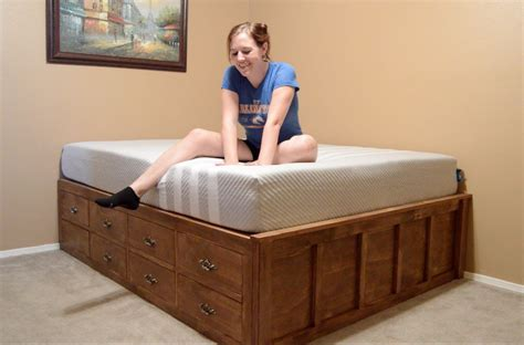 queen size bed  drawer storage april