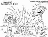 Coloring Pages Sprinkler Printable Summer Cool Playing Fun Lulu Milo Mayhem Featuring Characters sketch template