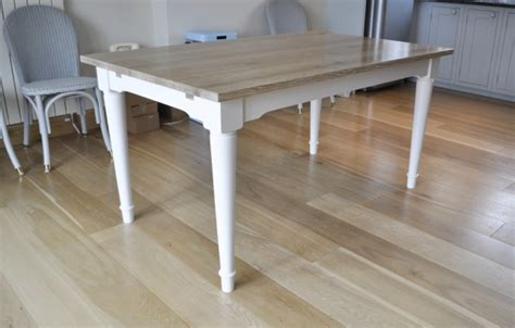 limed oak kitchen table mclaughlin furniture bespoke tables handmade in cornwall