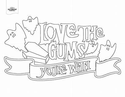 Dental Coloring Pages Pun Pumpkin Diy Halloween