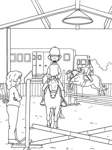 carte chambre des metiers coloriage sports equitation à colorier allofamille