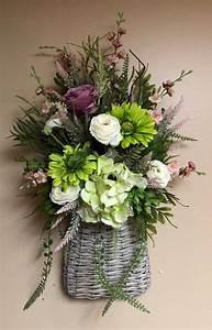 Spring, Door, Basket, Spring, Wall, Basket, Silk, Flower