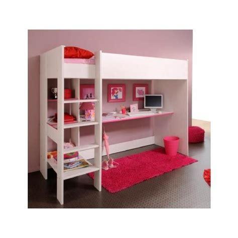 bureau pour lit lit mezzanine fille avec bureau chambre avec mezzanine