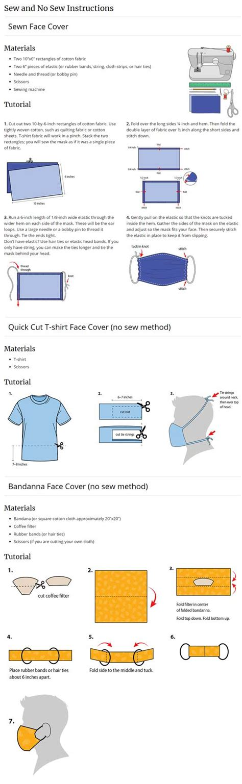 diy face mask instructions  sewing
