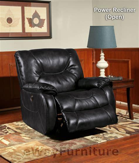 living argus black power recliner