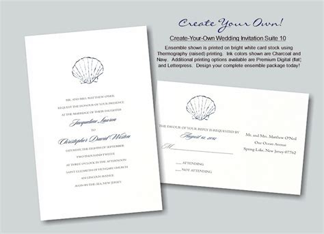 Create Your Own Wedding Invitation Suite 10
