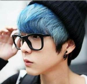 Blue Hair | ~ Ulzzang Boy ~ | Pinterest